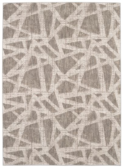 """Transitional 5' 3""""x7' 10"""" Woven Rectangle Rug in Oyster"""