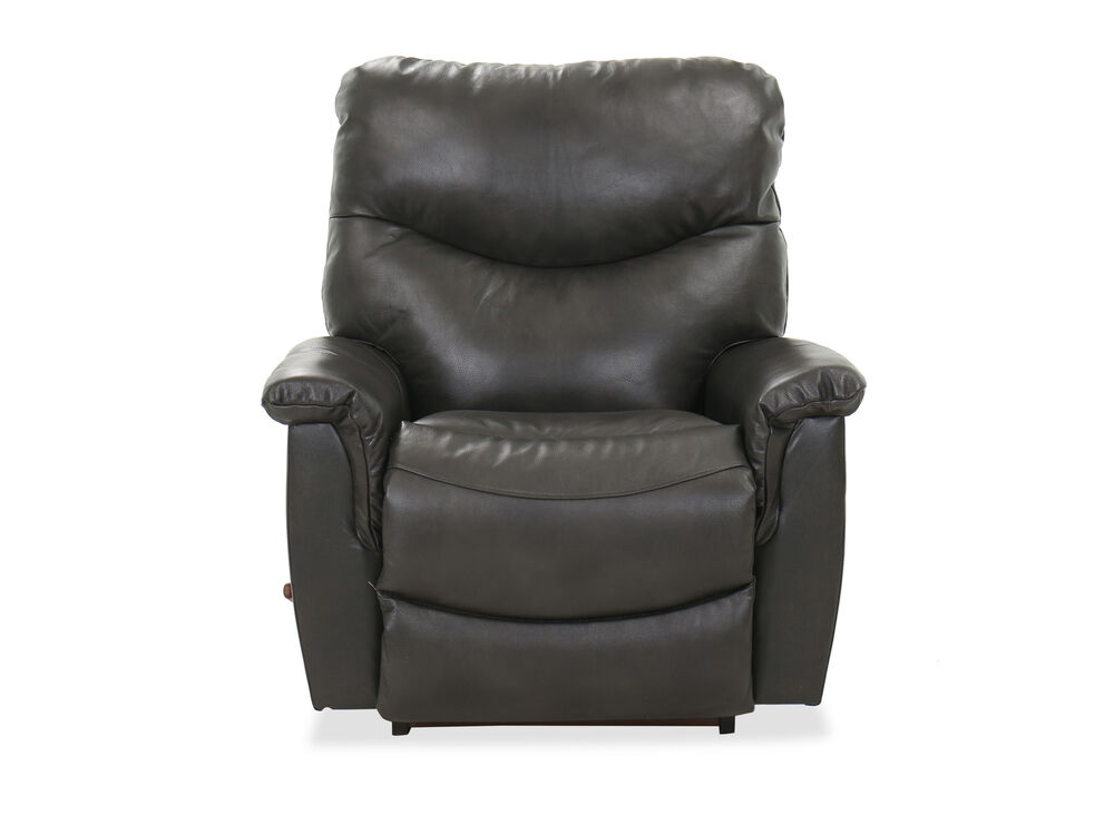 """Contemporary 39"""" Rocker Recliner in Charcoal"""