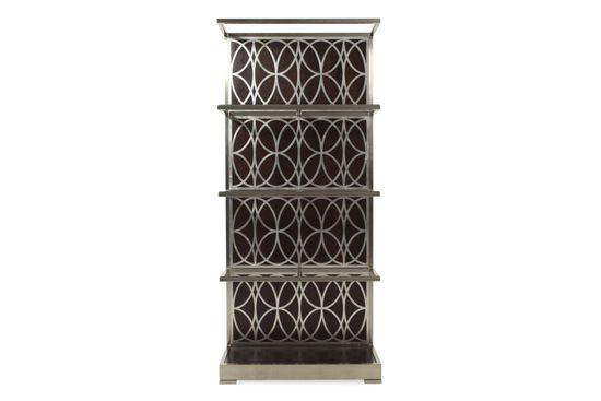 Four-Shelf Metropolitan Geometric Etagere in Dark Sable