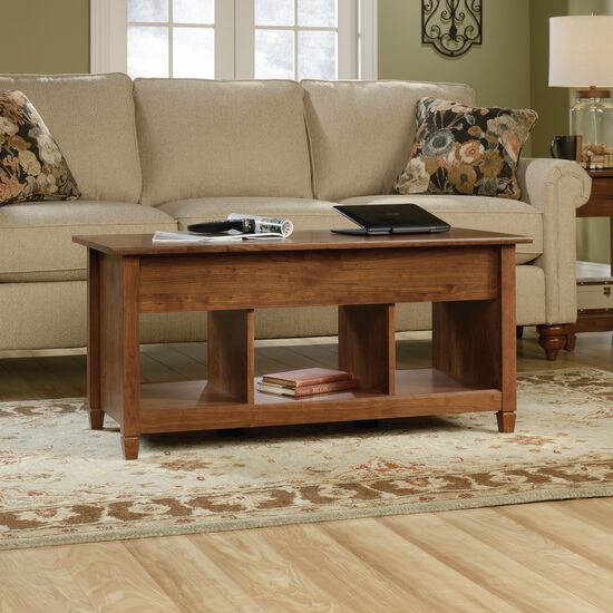 Rectangular Lift-Top Contemporary Coffee Tablein Auburn Cherry