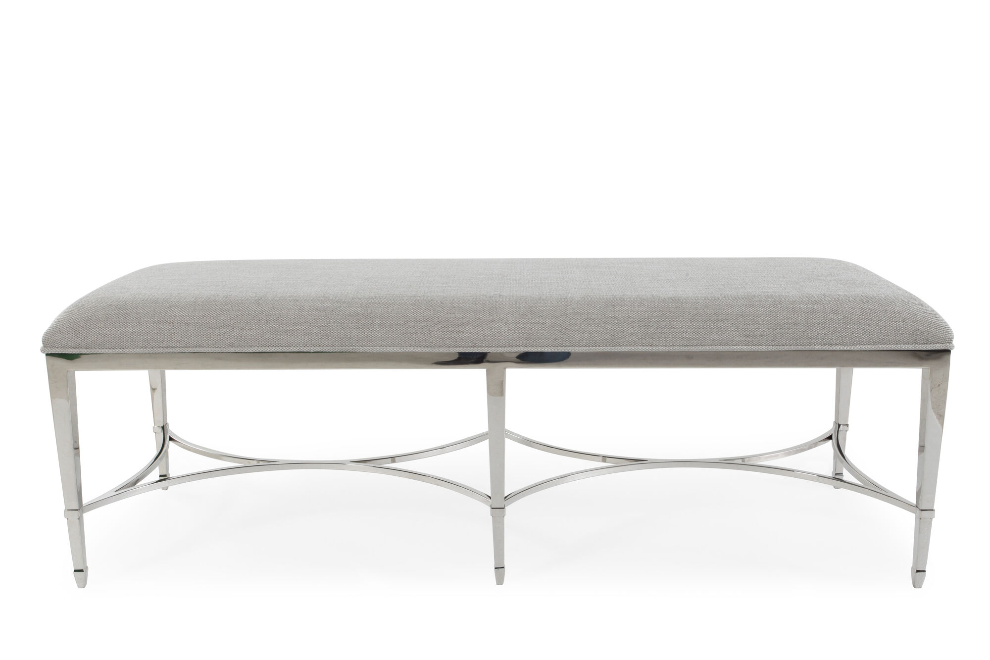 56 Quot Steel Bench In Gray Mathis Brothers Furniture