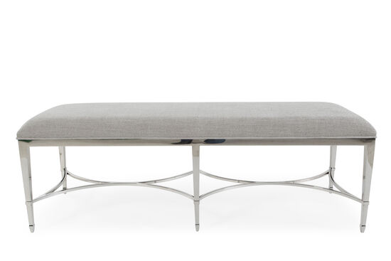 "56"" Steel Bench in Gray"
