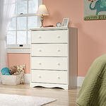 Traditional Four-Drawer Chest in White