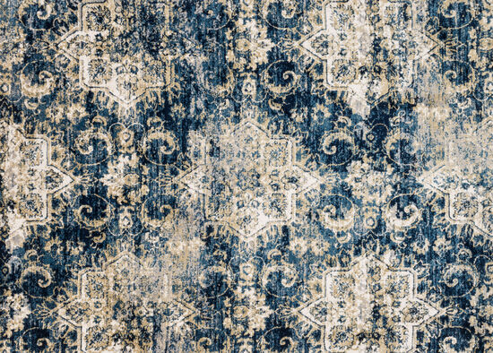 Loloi Power Loomed 5'x7'6'' Rug in Navy/Ivory