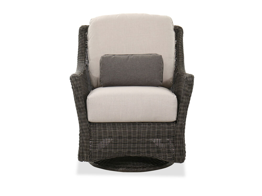 Swivel Glider Patio Chair In Dark Gray, Outdoor Glider Patio Set