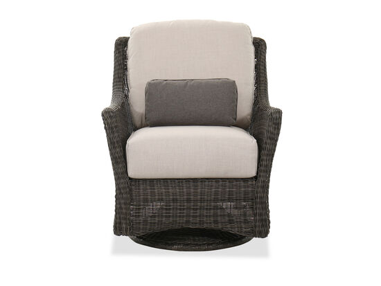 Swivel Glider Patio Chair in Dark Gray
