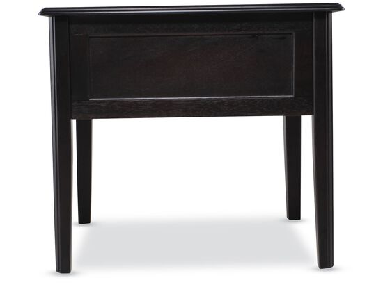 Contemporary One-Drawer End Table in Black