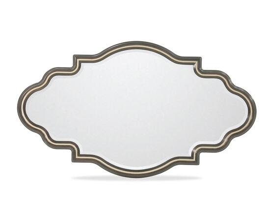 "31"" Contemporary Quatrefoil Shaped Mirrorin Bronzed Ebony"