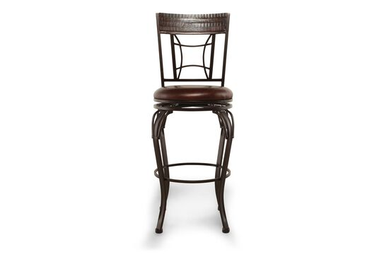 "Traditional 46"" Swivel Bar Stool in Dark Brown"
