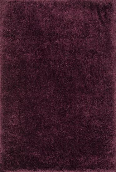 "Shags 3'-6""x5'-6"" Rug in Prune"