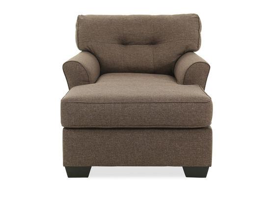 Button-Tufted Contemporary Chaisein Slate
