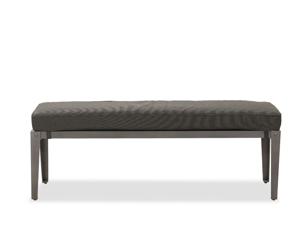 Casual Aluminum Bench in Gray
