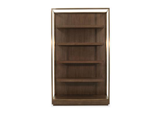 Modern Five-Shelf Étagère in Brown