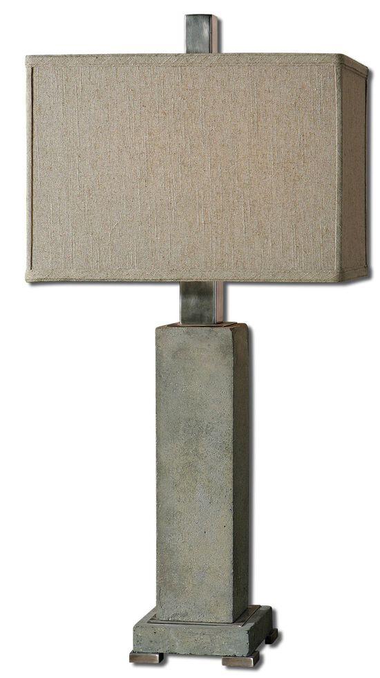 Concrete Base Table Lampin Oatmeal