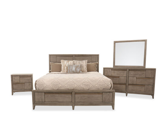 Four-Piece Transitional King Suite in Nouveau Gray
