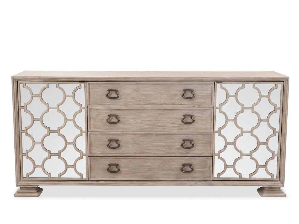 """Traditional 81.5"""" Four-Drawer Buffet in Sandstone"""