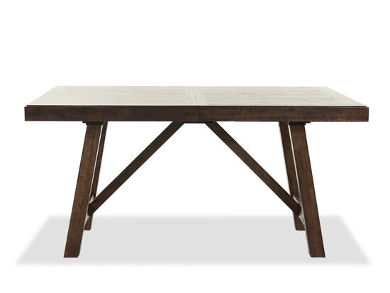 """Rectangular 78.5"""" Dining Table in Brown"""