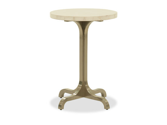 Round Chairside Table in Silver Mist
