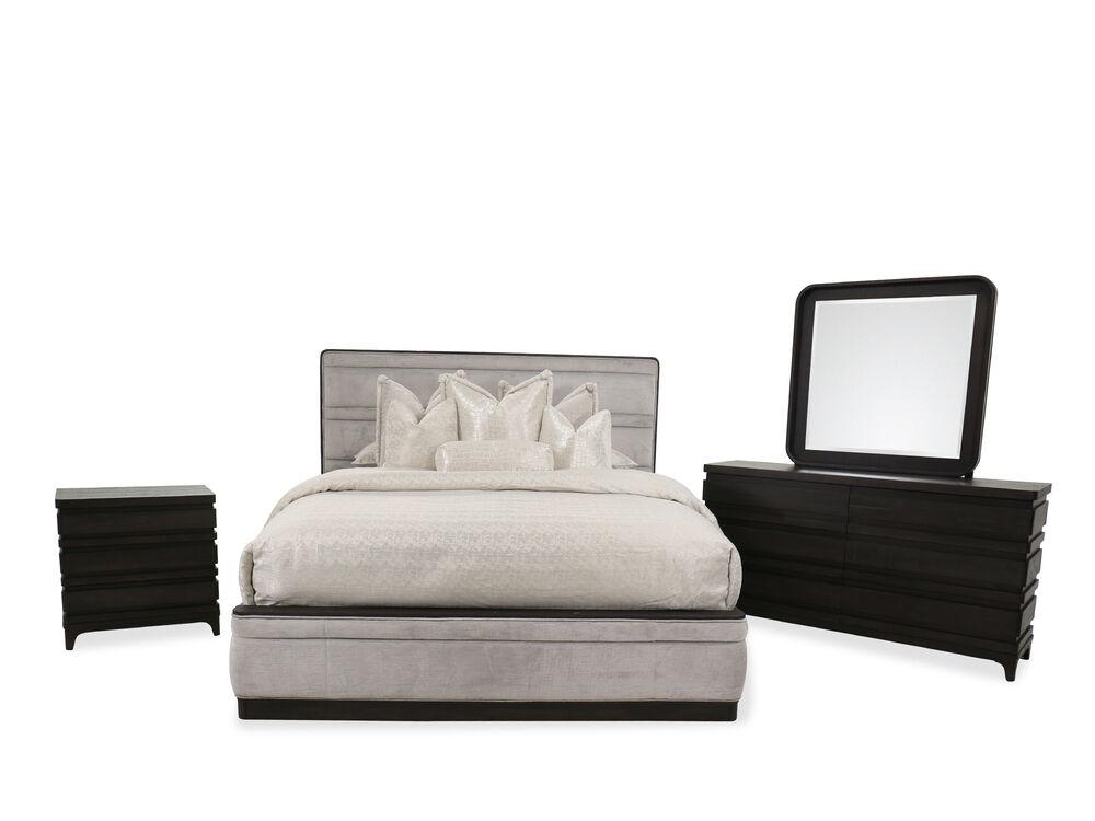 Four-Piece Transitional Bedroom Suite in Dark Brown
