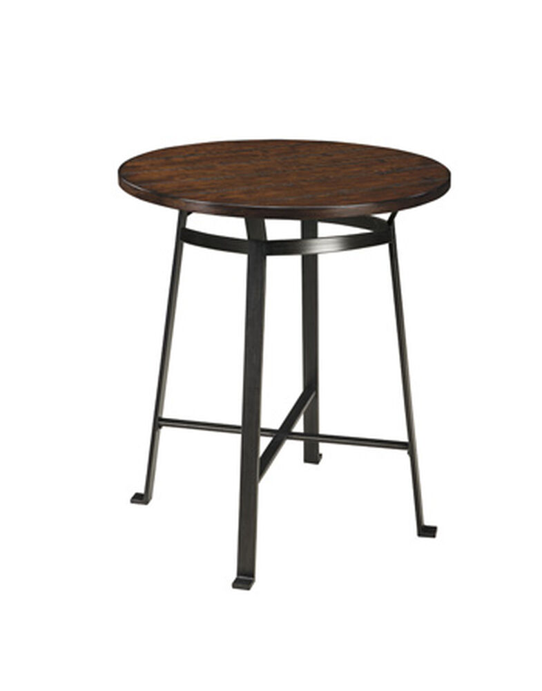"""36"""" Casual Round Counter Table in Rustic Brown"""