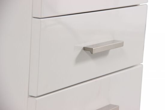 Three-Drawer Contemporary File Cabinet in White