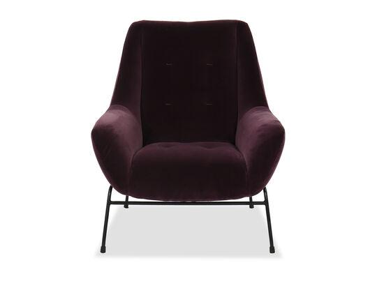 Casual Velvet Arm Chair in Purple