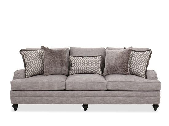 "Casual 96.5"" Sofa in Gray"