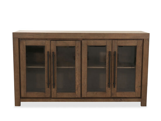 """Casual 71"""" Display Sideboard in Oak"""