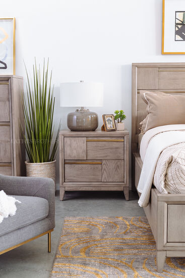 """29"""" Transitional Nightstand in Nouveau Gray"""