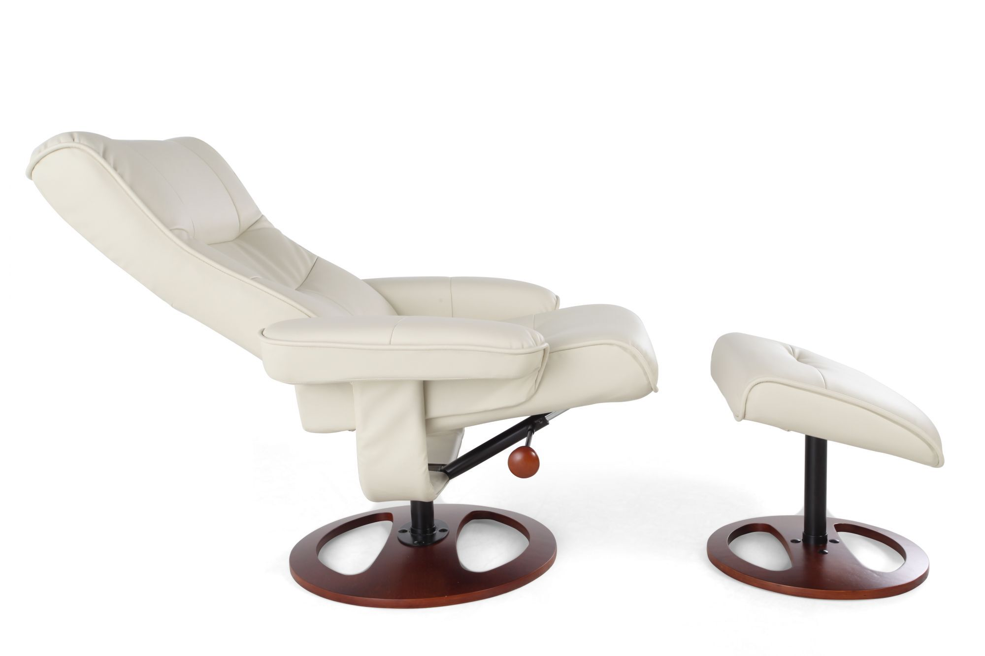 Contemporary Leather 32 5 Reclining Chair And Ottoman