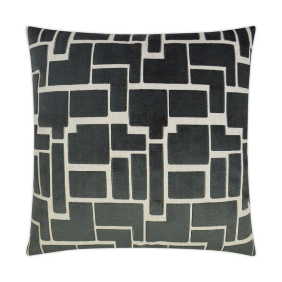 Aura Pillow in Charcoal Gray