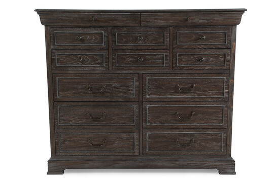 """50"""" Casual Wire Brushed Dresser in Brown"""