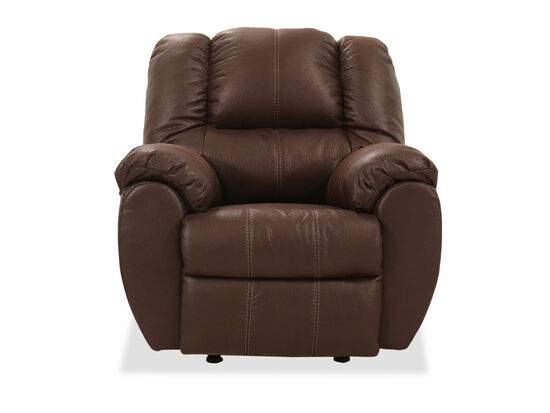 Three-Piece Seat Casual Rocker Recliner in Brown