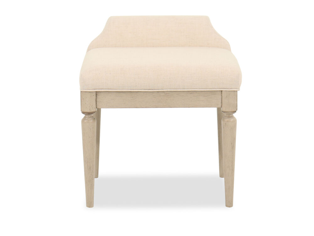 Low Back Transitional Youth Vanity Stool in Beige