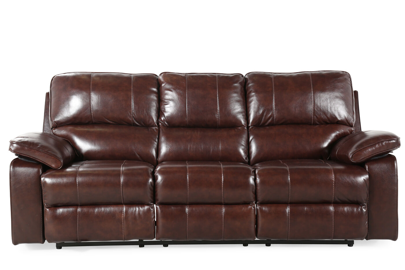 Contemporary 90 Quot Power Reclining Sofa In Coffee Brown