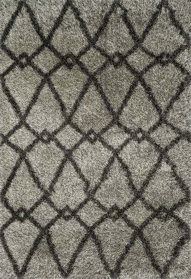 "Contemporary 3'-9""x5'-6"" Rug in Grey/Charcoal"