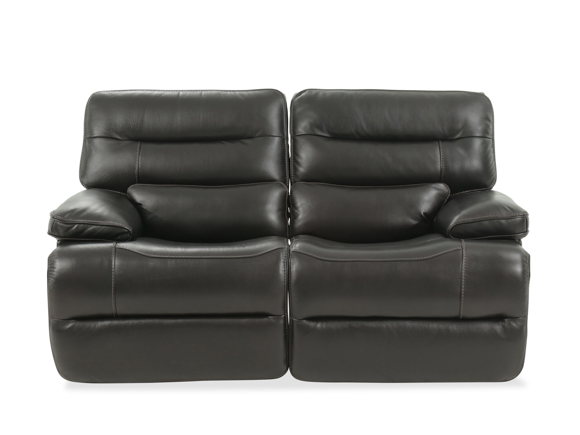 Power Reclining Traditional 68 Loveseat With Power Headrest In