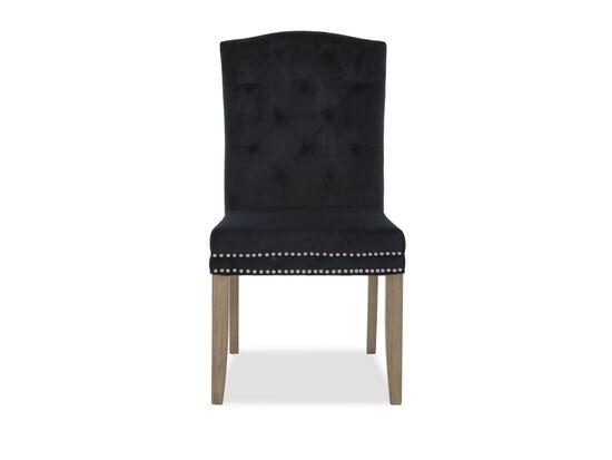 Nailhead Trim Upholstered Dining Chairin Black