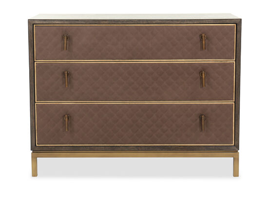 "35"" Three-Drawer Traditional Bachelor's Chest in Lloyd Brown"