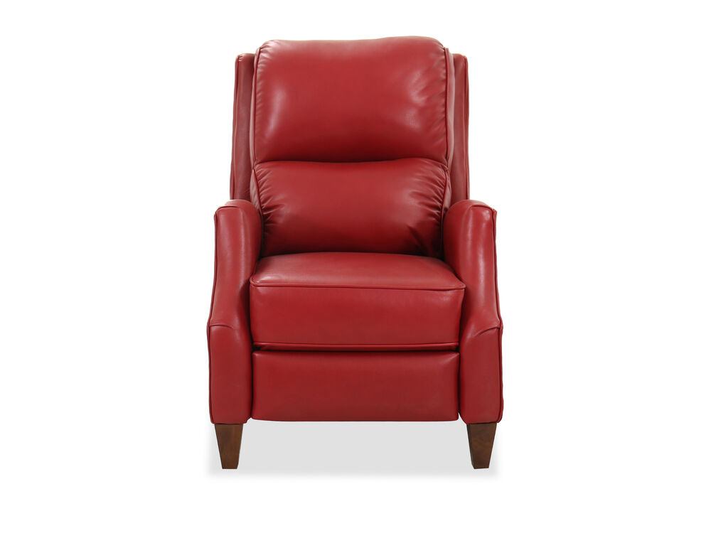 Contemporary Wall Saver 30'' Power Recliner in Red