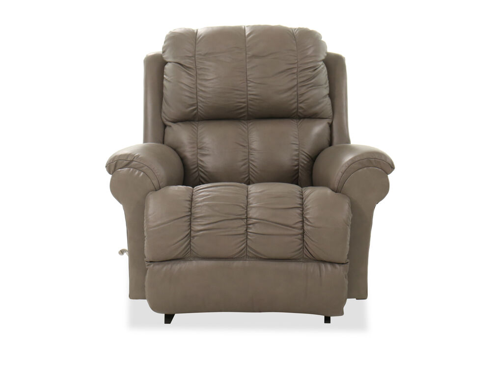 "Casual 45"" Leather Rocker Recliner"