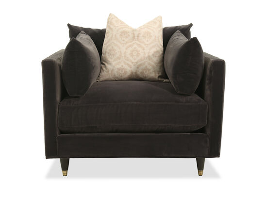 Low-Profile Casual Arm Chair in Charcoal