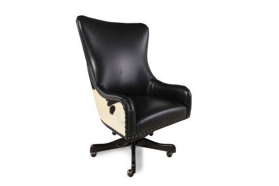 Leather Executive Swivel Tilt Chairin Black
