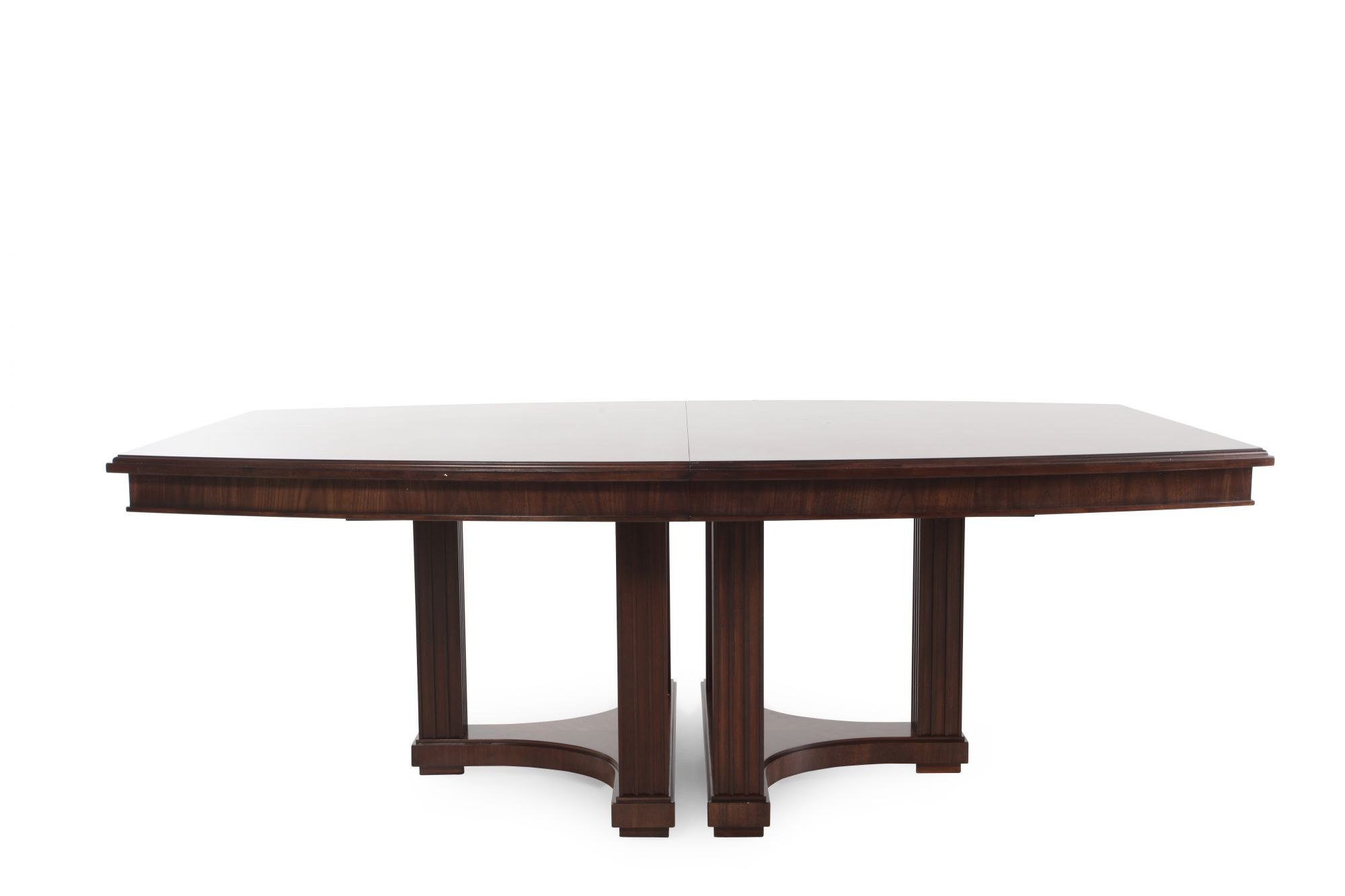 Superior Contemporary 48u0026quot; To 95u0026quot; Double Pedestal Dining Table In Brown  Contemporary 48u0026quot; To 95u0026quot; Double Pedestal Dining Table In Brown