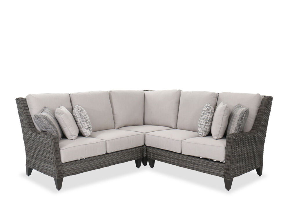 Three Piece Contemporary Patio Sectional In Dark Gray Mathis Brothers Furniture
