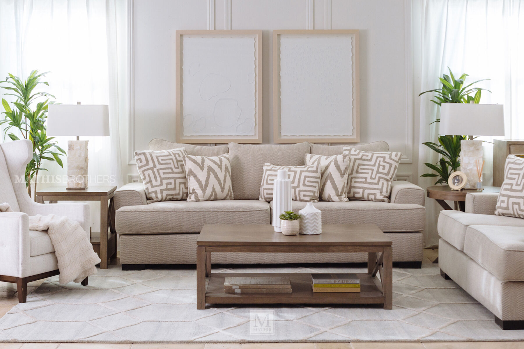 ... Contemporary Textured 101\u0026quot; ... & Living Room Furniture Stores | Mathis Brothers