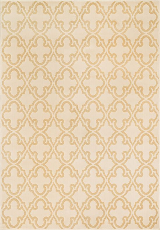 """Transitional 2'-3""""x3'-9"""" Rug in Ivory/Beige"""