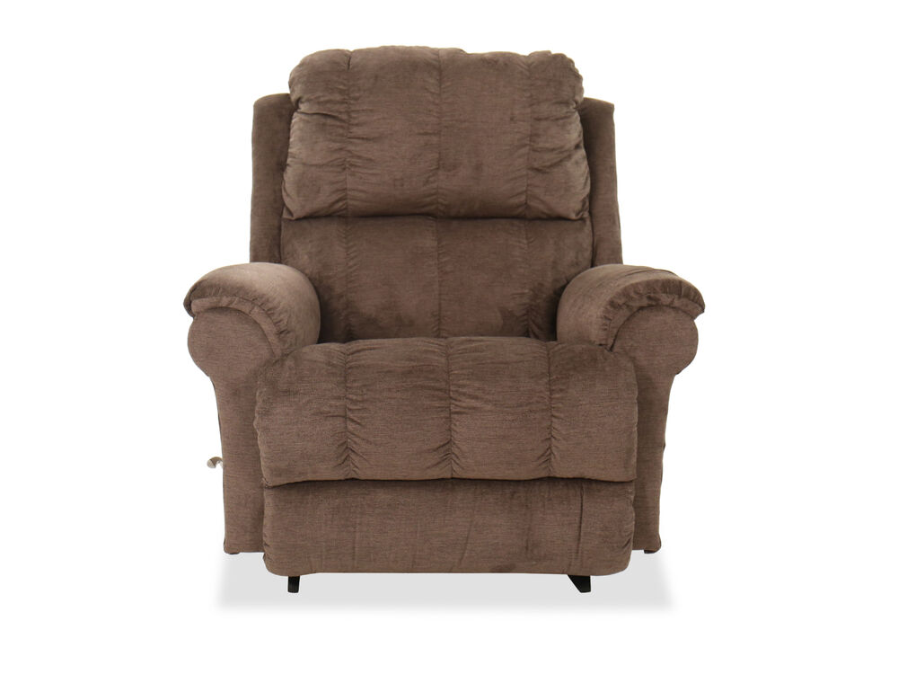 """Casual 45"""" Rocking Recliner in Brown"""