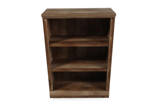 Casual Adjustable Shelf Open Bookcase in Oak