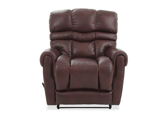 Casual Wall Rocking Recliner in Brown